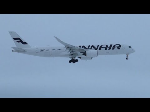 4K| Great Winter Planespotting At EFHK, Helsinki Airport
