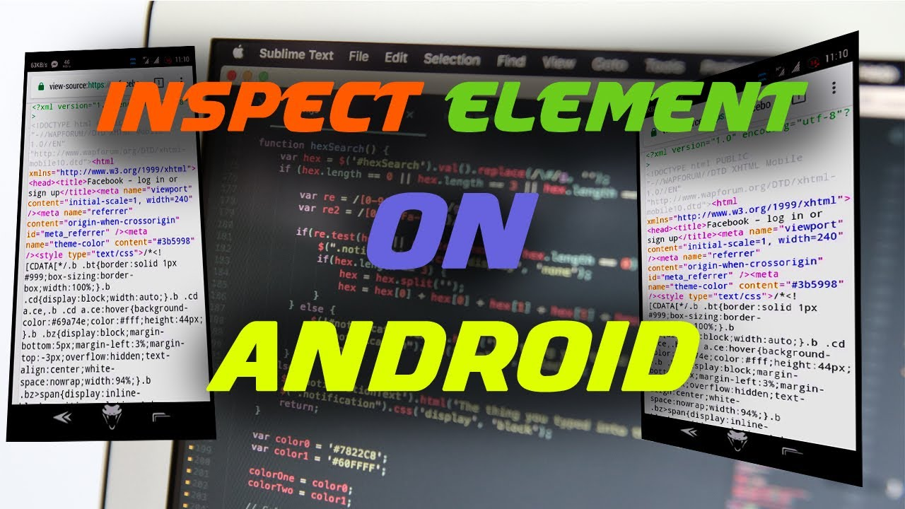 How to Inspect Element on Android-Inspect Element in Android [Instant edit  and see your webpage]