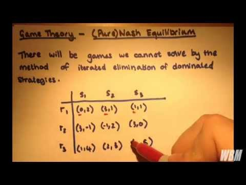 Game Theory #3 - (Pure) Nash Equilibrium and Best Response Strategies