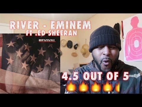 Eminem - River (Audio) ft. Ed Sheeran (REACTION) HEAT ON FIRST LISTEN!!