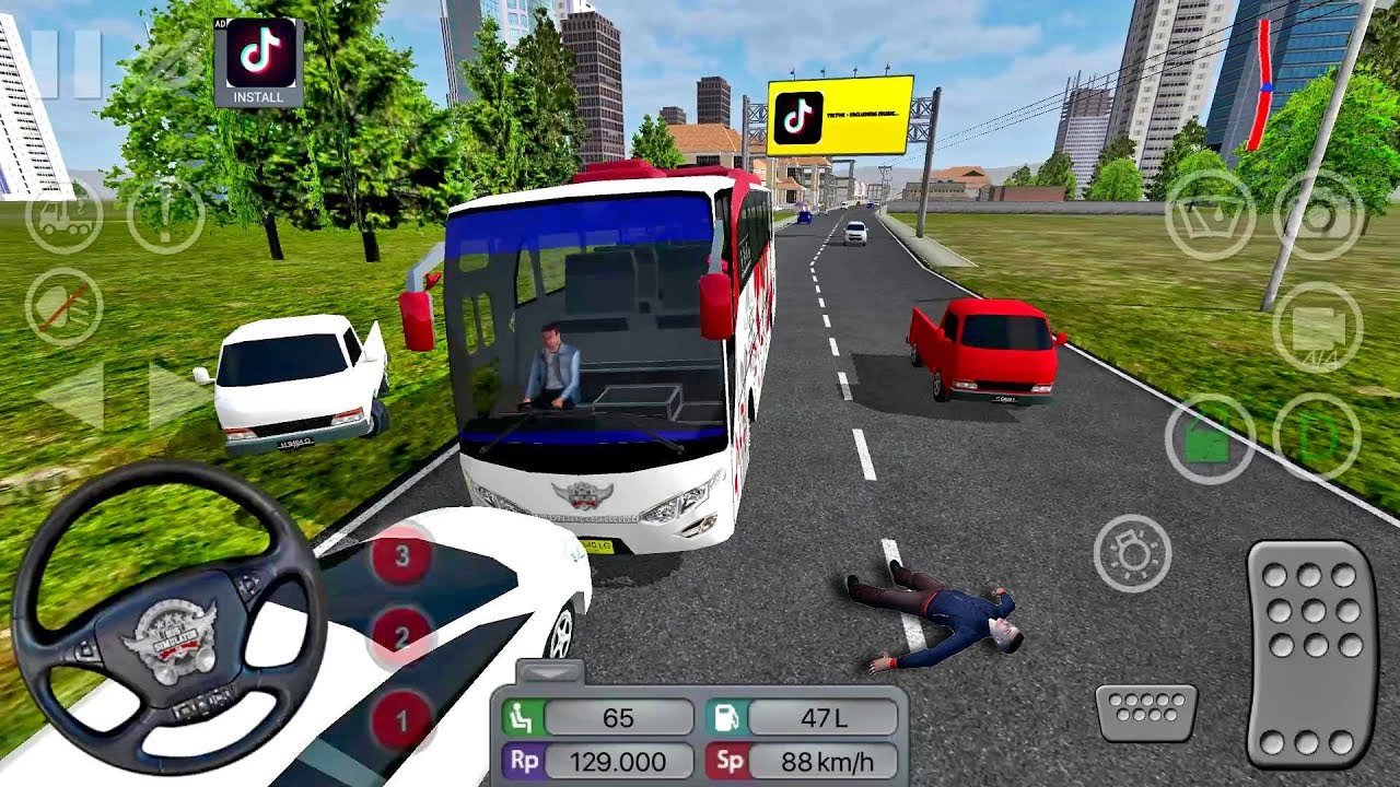 Bus Simulator Indonesia #11 FART HORN! - Bus Game Android gameplay #busgames