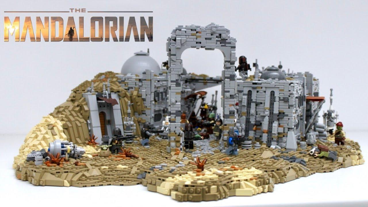 Lego Star Wars The Mandalorian Nevarro Moc Bounty Hunter Guild Vs Mandalorians Battle Ep3 Youtube