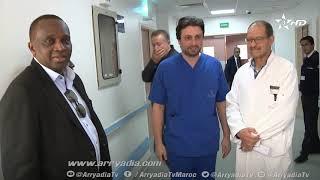أجرى حارس مرمى #حوريا_الغيني #السنغالي #خديم_نداي عملية جراحية بإحدى مصحات العاصمة الرباط كللت بالنج