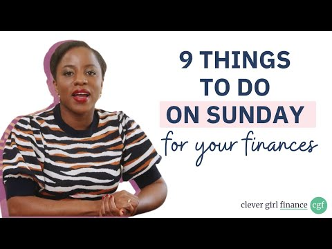 9 Things To Do On Sunday For Your Finances | Clever Girl Finance