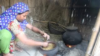 Village Food | Puffed rice | Grandmother recipes-48