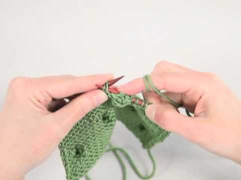 e5ee540ad How to Knit a Bobble Stitch - YouTube