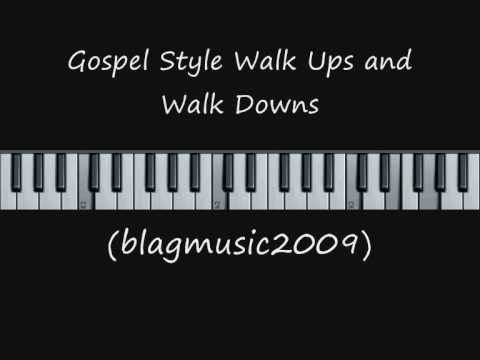 Gospel Style Walk Ups and Walk Downs in C Major