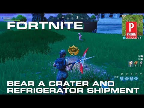 Fortnite - Search Between a Bear, Crater, and Refrigerator Shipment