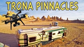 Trona Pinnacles RV Boondocking & Aerial Drone View