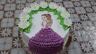 Бисквитный торт с шоколадно заварным кремом для девочки
