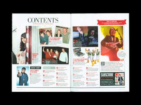 Media Analysis of a music magazine cover, contents and double page spread