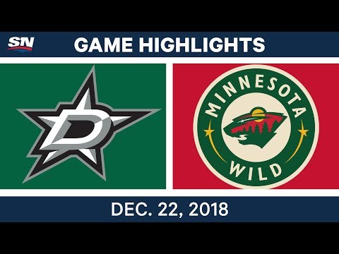 NHL Highlights | Stars vs. Wild - Dec 22, 2018