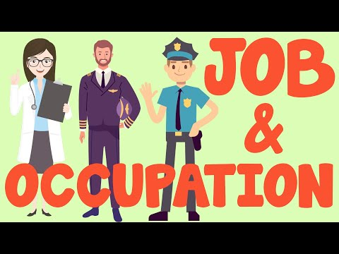 Occupation Names   Learning Job and Profession List for Kids in English