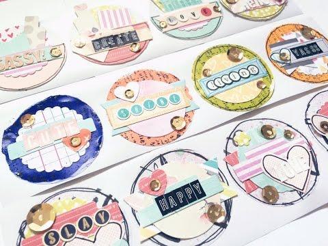 DIY Circle Embellishments Stickers!