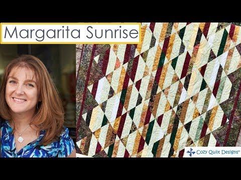 Margarita Sunrise   Strip Presentation by Cozy Quilt Designs