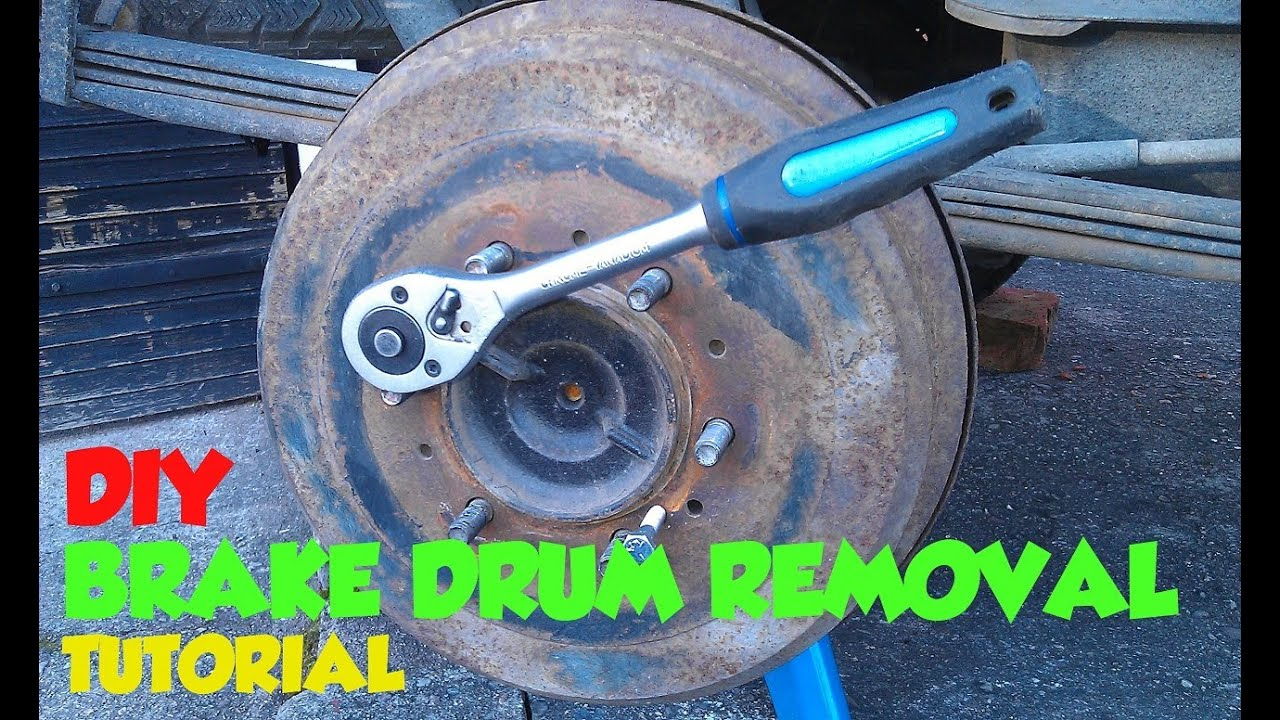 rear brake drum removal tutorial toyota hilux surf mk3 [ 1280 x 720 Pixel ]