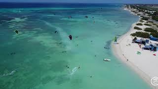 Kite Surfing at Fisherman's Hut, Aruba