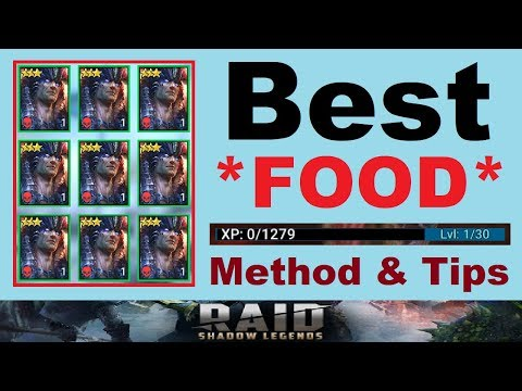 Best *FOOD* Methods & ~RANKING~ Tips [RAID: Shadow Legends]
