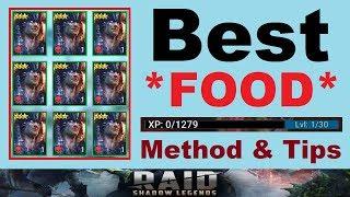 Best *FOOD* Methods & ~RANKING~ Tips [RAID: Shadow Legends]