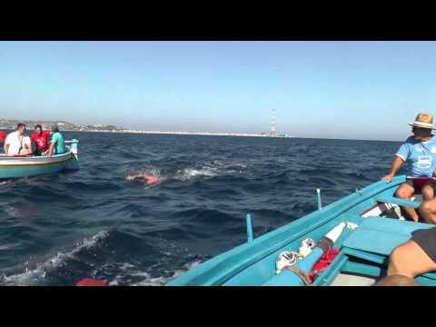 SWIMMING ACROSS THE STRAIT OF MESSINA