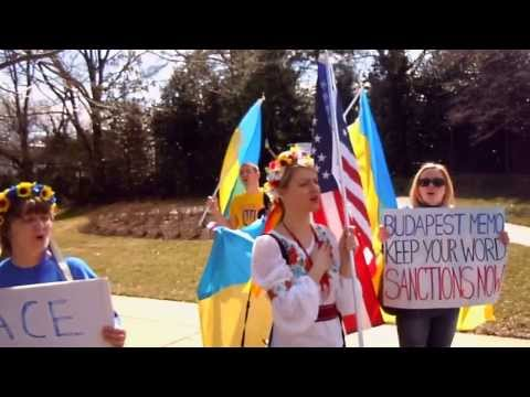 Rally to support Ukraine at UNITED KINGDOM Embassy