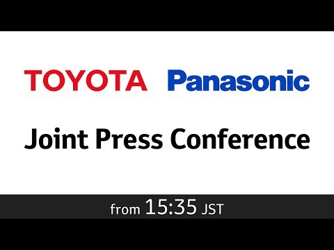 Joint Press Conference by Toyota Motor Corporation and Panasonic Corporation