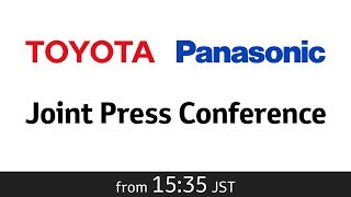 Joint Press Conference by Toyota Motor Corporation and Panasonic Corporation thumbnail