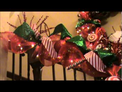 episode 67 my christmas staircase - How To Decorate A Staircase For Christmas With Deco Mesh