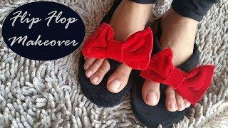 diy Flip Flop slippers Makeover