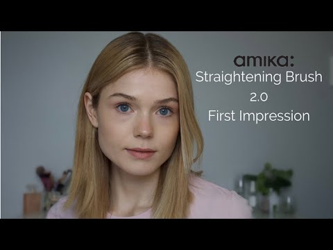 Deom & Review | Amika Polished Perfecting Straightening Brush 2.0 | Samantha Parsons