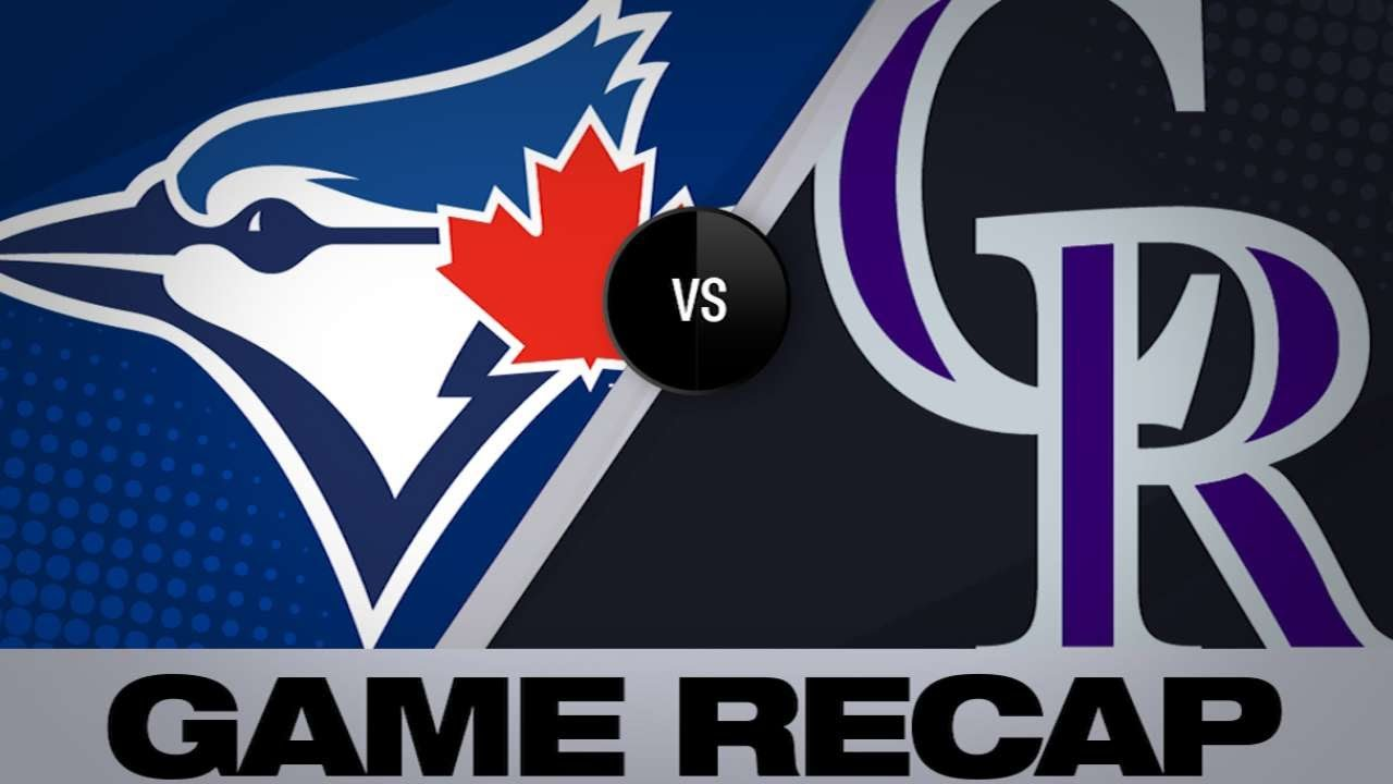 6/1/19: Rockies use 3-run 1st to hold off Blue Jays
