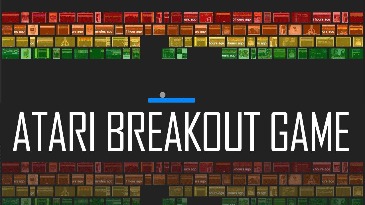 Play Atari Breakout Game Online On Google Youtube