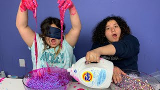 Mary CHEATED!!! Blindfolded Slime Challenge!