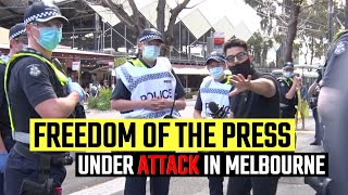 POLICE HARASSMENT: Cops in Melbourne FAIL to stop Avi Yemini reporting at the latest protest