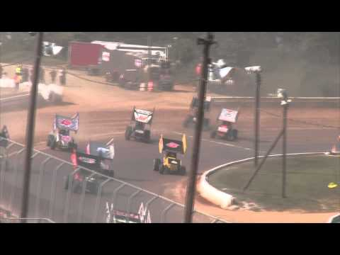 Port Royal Speedway 410 Sprint Car Highlights 9-07-15