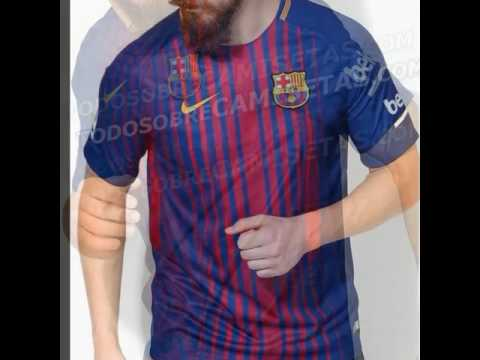 Nueva Camiseta Barcelona 2017 18 New Kits 2017 18 Nova Camisa Do Barcelona 2017 18