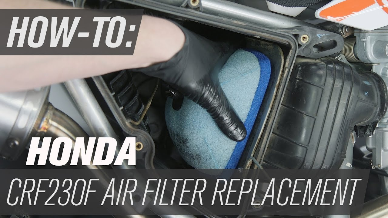 How To Replace The Air Filter On A Honda CRF230F