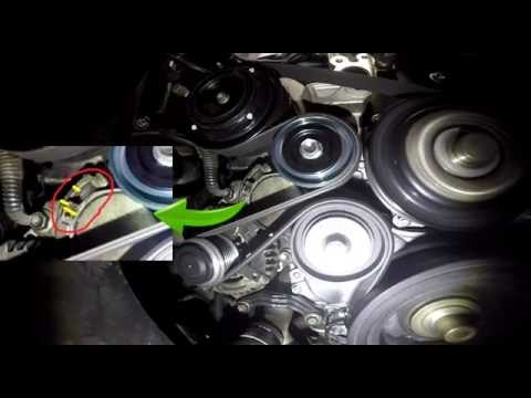 Idler Pulley Noise >> squealing noise 1KD engine Toyota Prado MY2010 - YouTube