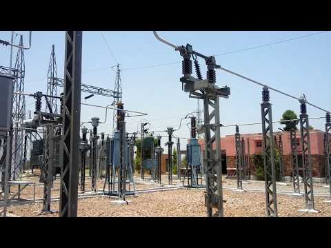 Feeders Distribution Junction view  of a 25 KV typical substation for Railways by Shubham Dixit