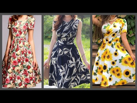 gorgeous-most-trendy-designers-floral-skater-dresses-collection-(2020)