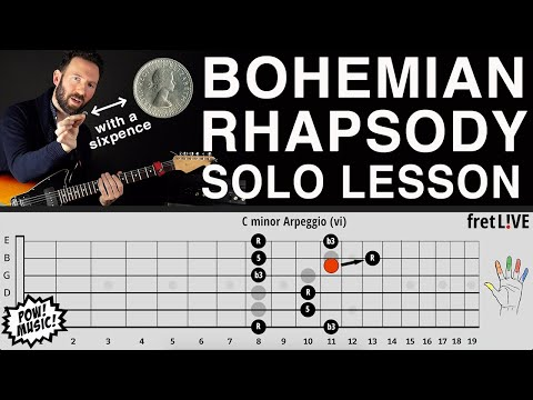 Bohemian Rhapsody Guitar Solo Lesson & Analysis - Brian May / Queen (How to Play Tutorial) thumbnail