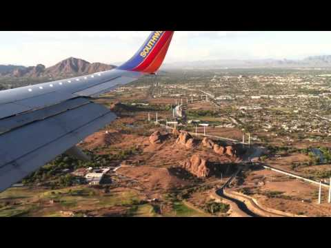 Southwest Airlines 737 Landing In Phoenix At Sunset On Such A Beautiful Day.