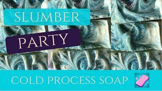 HOW TO MAKE COLD PROCESS SOAP | SLUMBER PARTY (LAVENDER + CHAMOMILE)