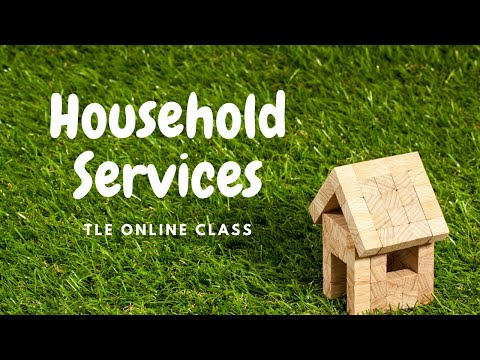 TLE Online Class: Household Services