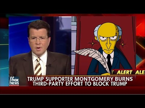 "The Simpsons Mr.Burns on Donald Trump ""Bomb The Shi* Out of them"""