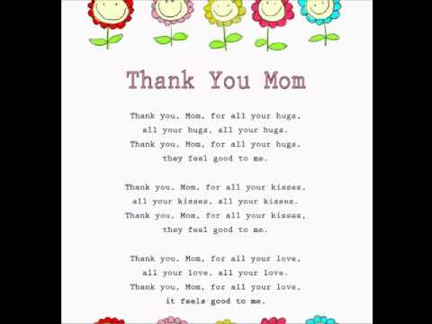 Thank You Mom Mothers Day Rhymes and SongsKids RhymesLearning to Read  YouTube