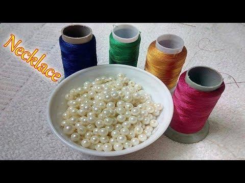 DIY | Handmade Necklace Ideas | How To Make Silk Thread Necklace At Home | DiyArtiePie