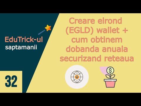 [Crypto] Creare elrond (EGLD) wallet si cum putem obtine dobanda anuala securizand reteaua