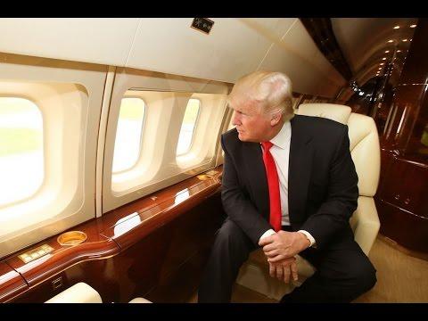 Inside tour of Donald Trump's PRIVATE JET  [$100 million Boeing 757]