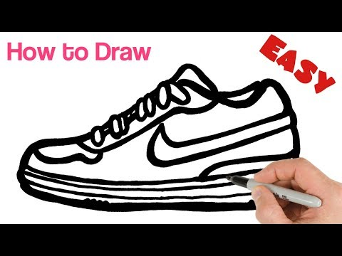 how-to-draw-nike-sneakers-shoes-easy-|-art-tutorial